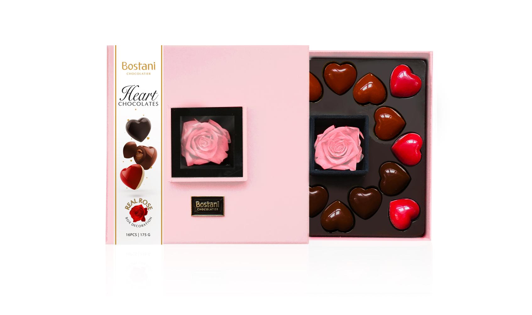 Pink Heart chocolate Box