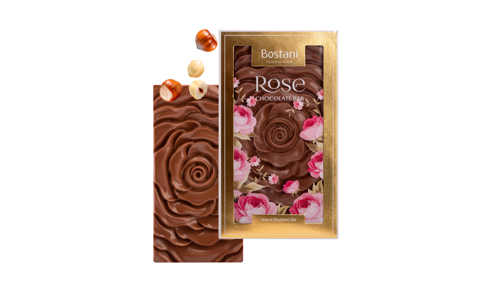 Rose Bar Milk Chocolate Hazelnuts