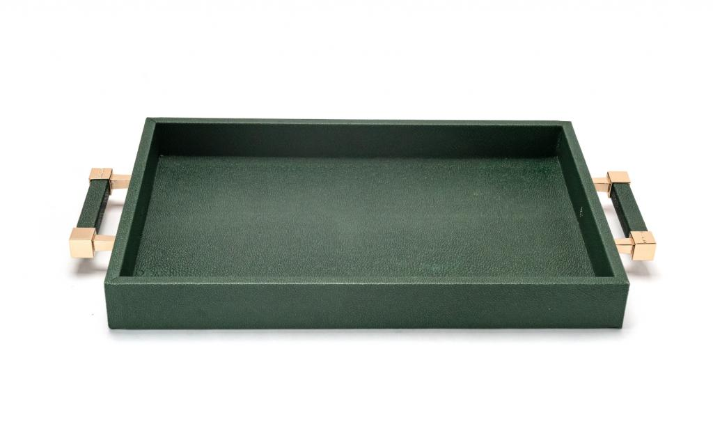 Congratulations Leathered Green Tray Medium