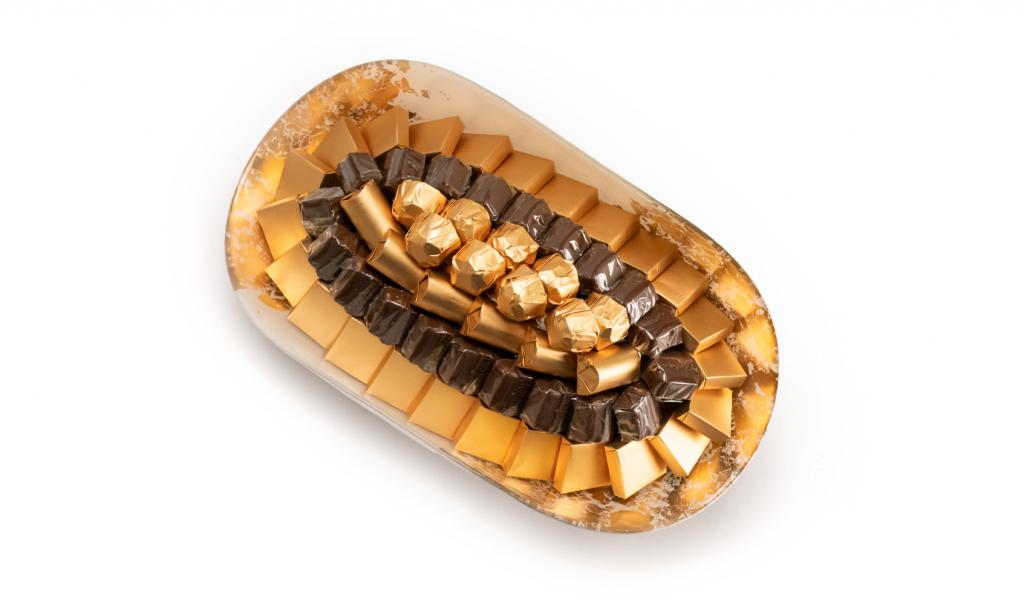 Mix Chocolate Gold & White Dish