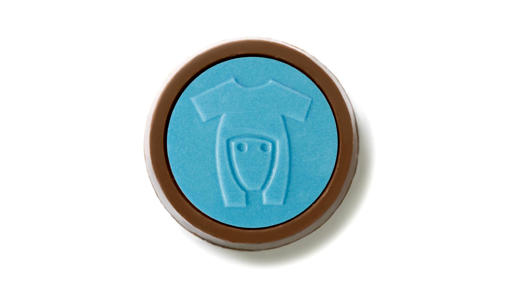 Baby shirt blue chocolate