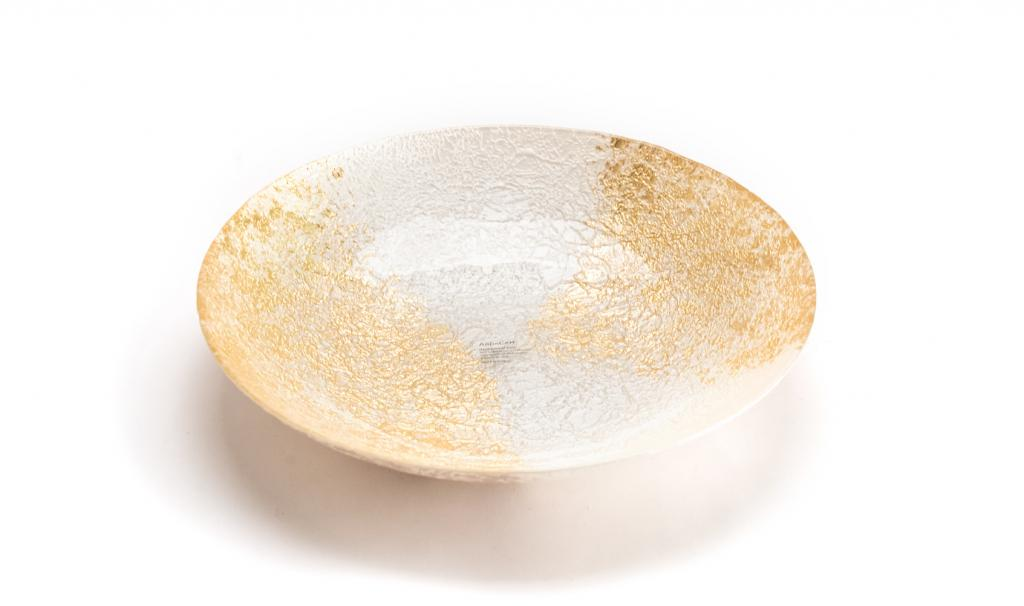 Get Well Soon Gold & White Dish