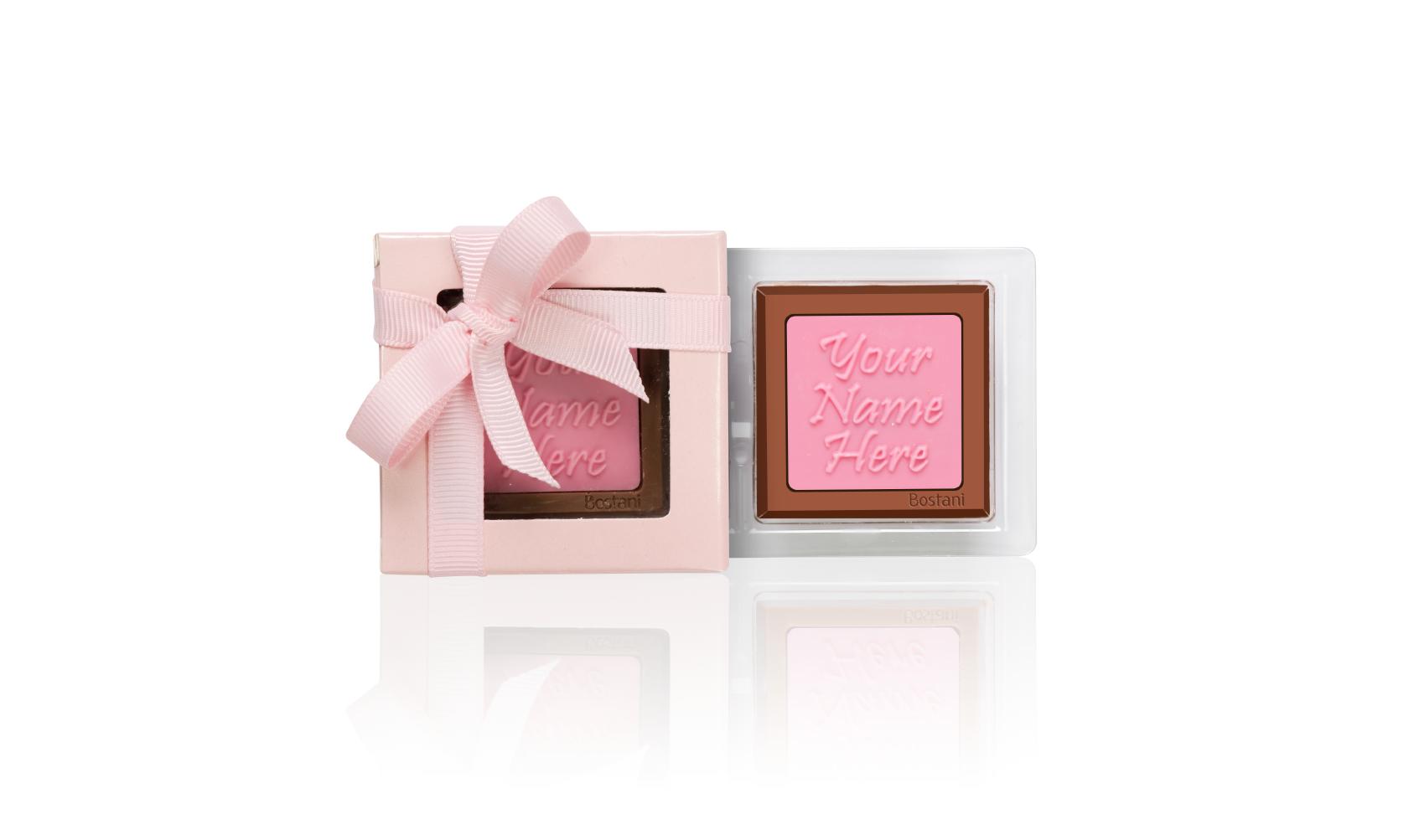 الشوكولا على شكل العلبة الشفافة 1 قطعة وردي