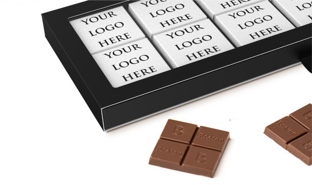 علبة الشوكولا الرقيقة السوداء 24 حبة