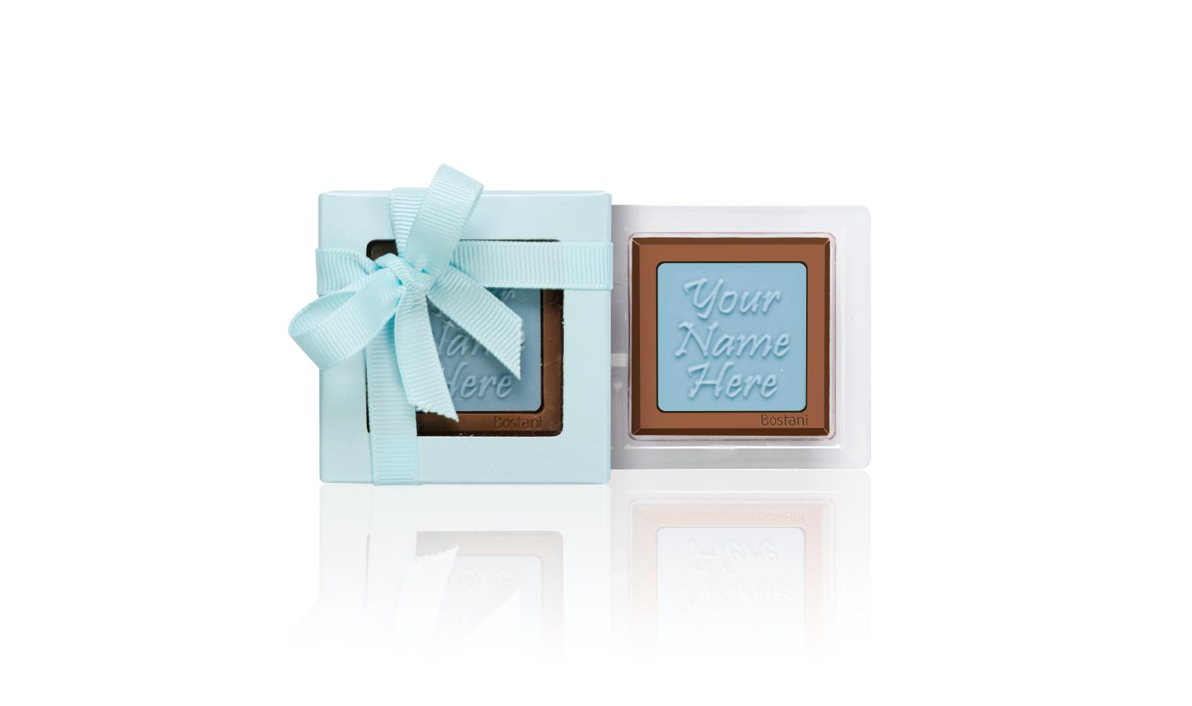 الشوكولا على شكل العلبة الشفافة 1 قطعة ازرق