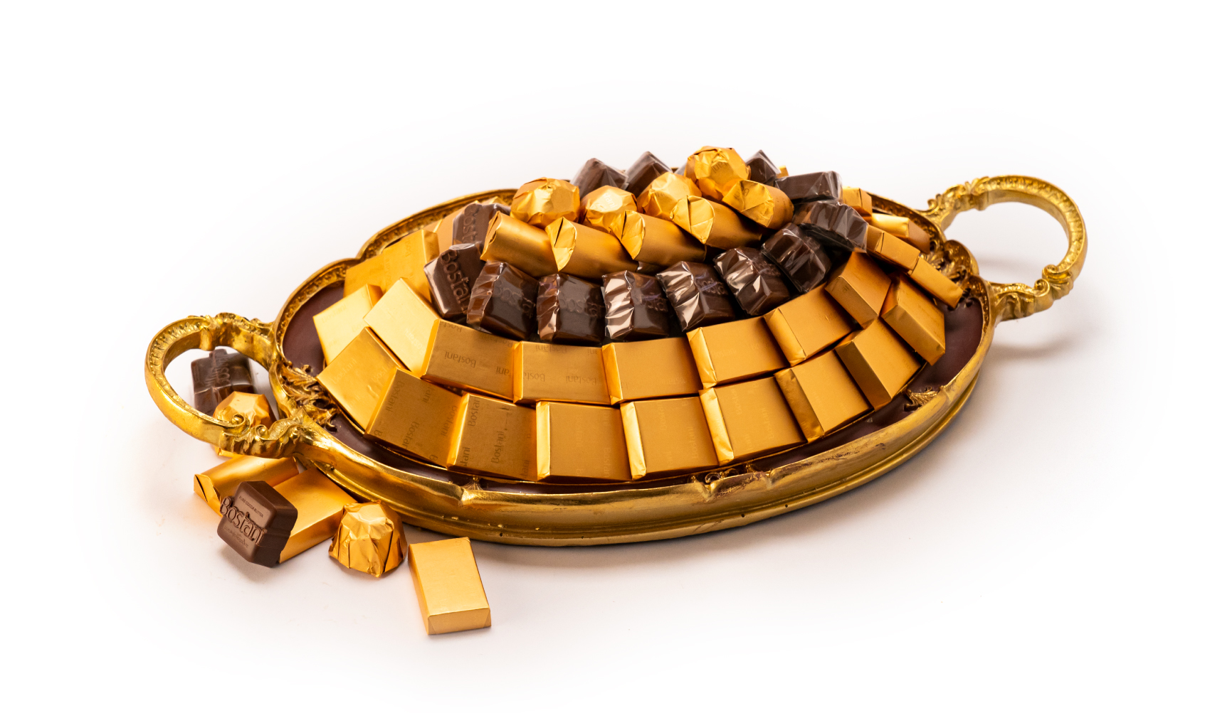 Mix Chocolate Small Brown Metal Tray
