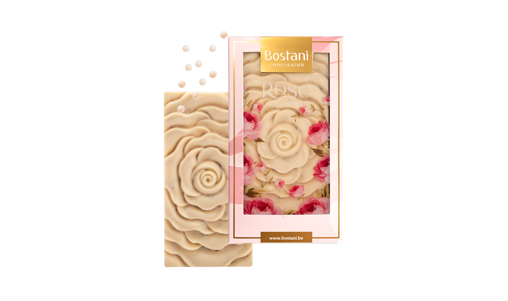 Rose Bar White Chocolate Crispy 100g