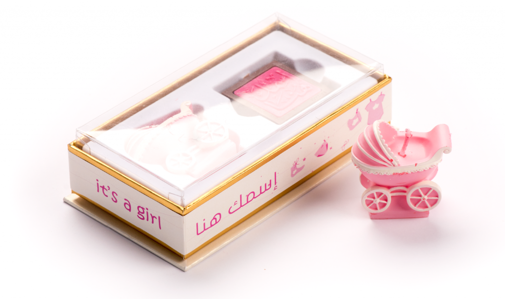 Car Candle Pink