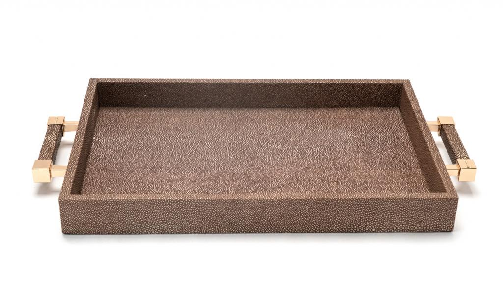 Congratulations Leathered Brwon Tray Small