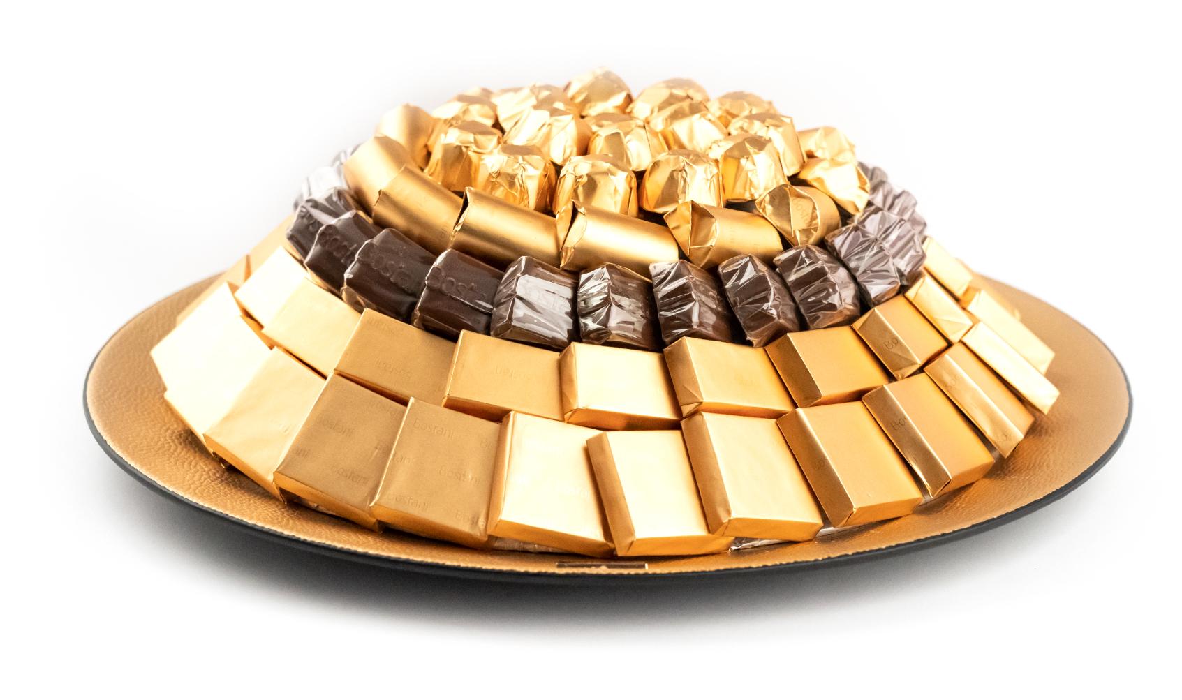 Mix Chocolate Tray Big Gold