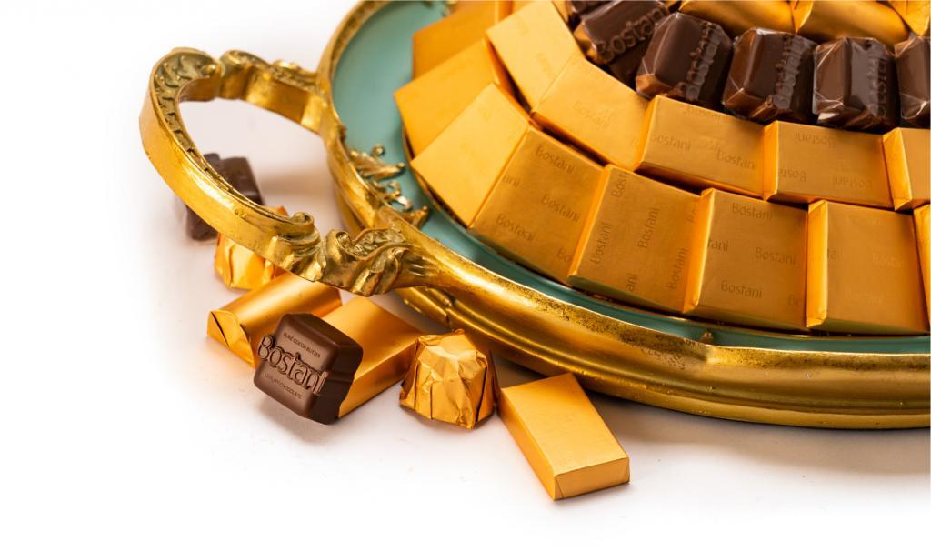 Mix Chocolate Medium Tiffany Metal Tray