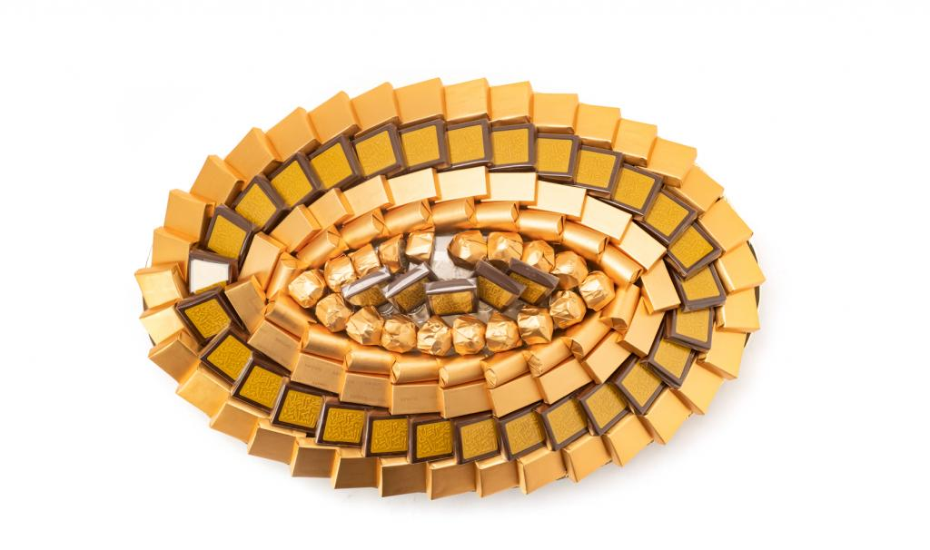Get Well Soon Tray Medium Gold Oval