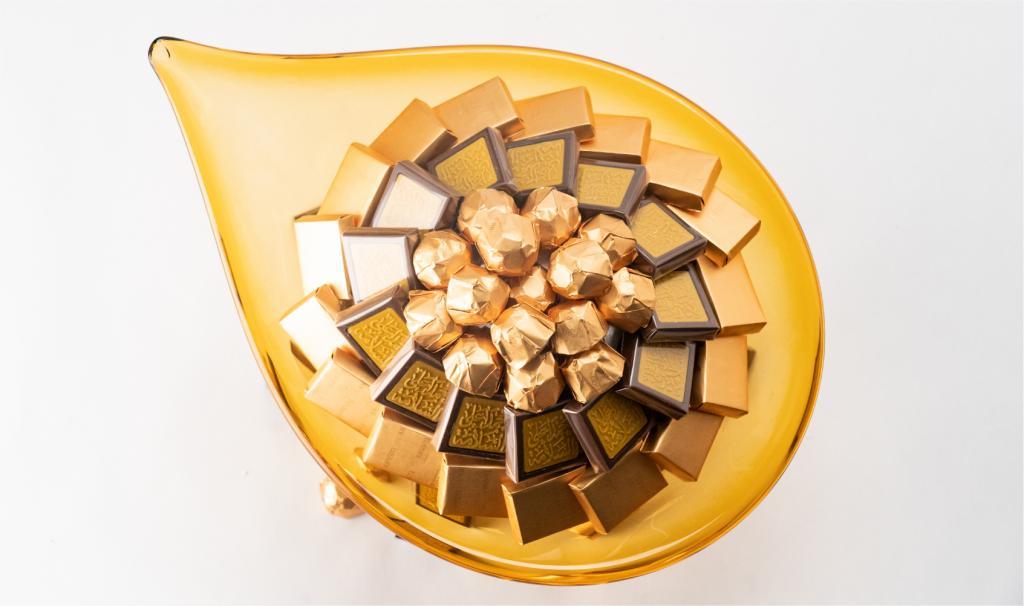 Get Well Soon Flat Gold Italian Handmade Dish