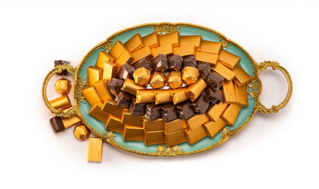 Mix Chocolate Small Tiffany Metal Tray