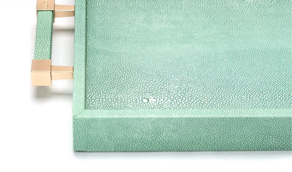 Leatherd Tray Tiffany Medium Mix Chocolate