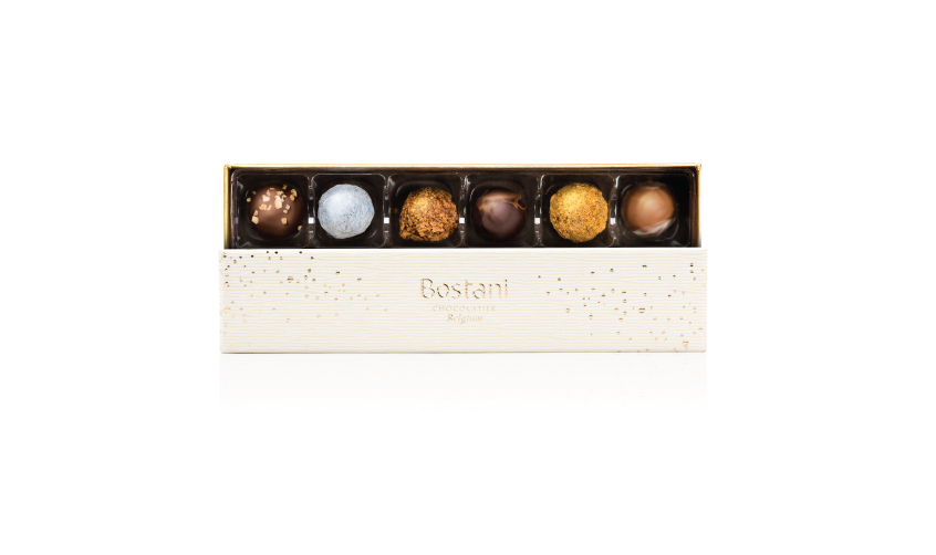 6 PCS Of Truffles Chocolate in White Box