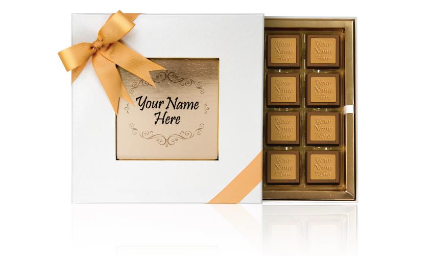 علبة الهدايا الجلدية (32 قطعة شوكولا)