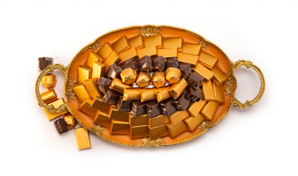 Mix Chocolate Small Orange Metal Tray