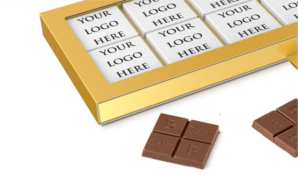 علبة الشوكولا الرقيقة الذهبية 24 حبة