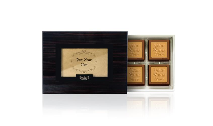 Black Wooden Box 12 PCS Chocolate