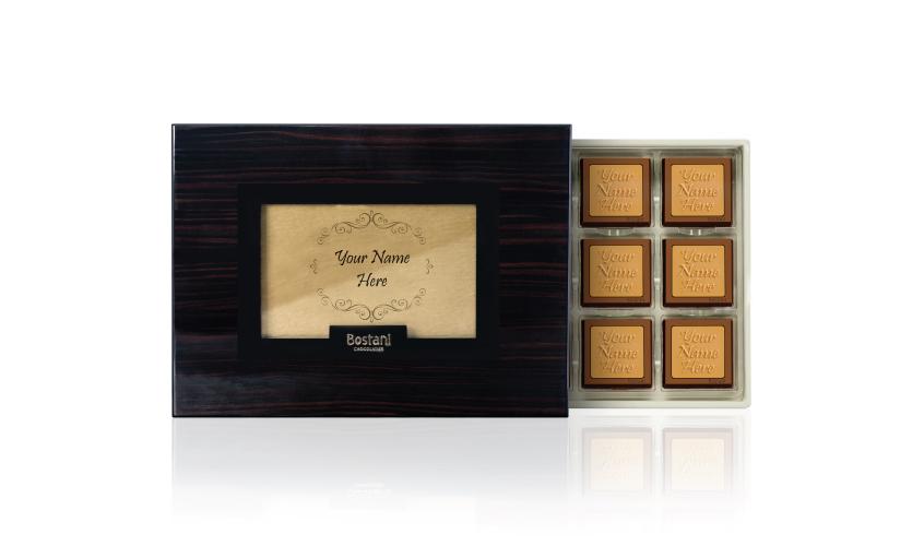 Black Wooden Box 24 PCS Chocolate