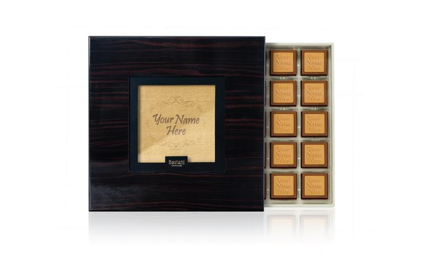Black Wooden Box 50 PCS Chocolate
