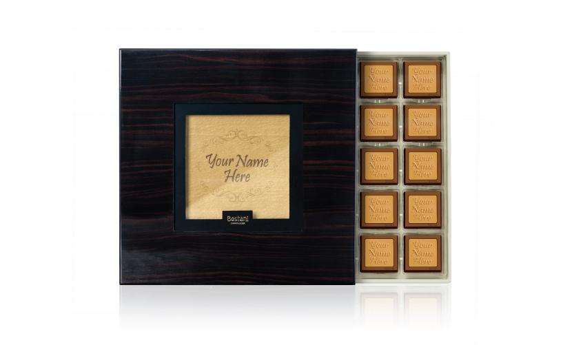 Black Wooden Box 75 PCS Chocolate