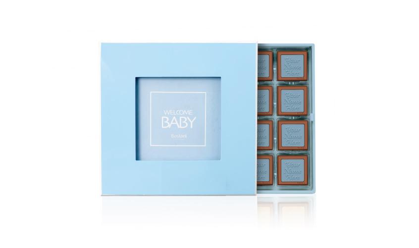 Blue Wooden Box 32 PCS Chocolate