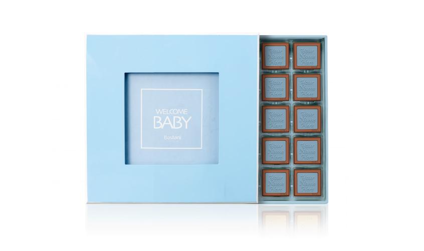 Blue Wooden Box 50 PCS Chocolate