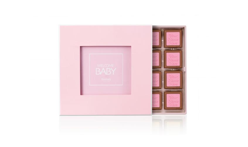 Pink Wooden Box 32 PCS Chocolate